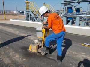 Отбор пробы асфальто-бетонного грунта